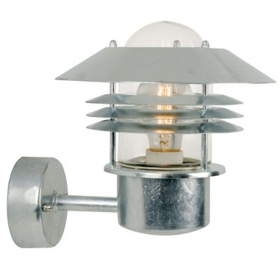 Vejers Galvanised Steel Outdoor Wall Light