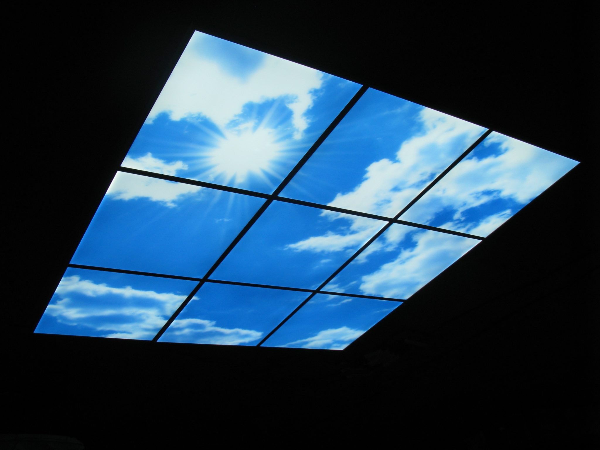 595x595 Led Sky Panel Ceiling Architectural Lighting