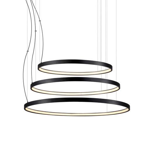 ufo 126 watt round black led pendant ceiling light