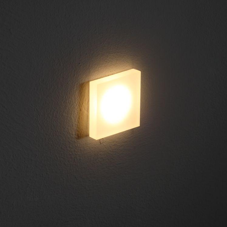 LSL008 1 watt acrylic recessed Interior LED wall light