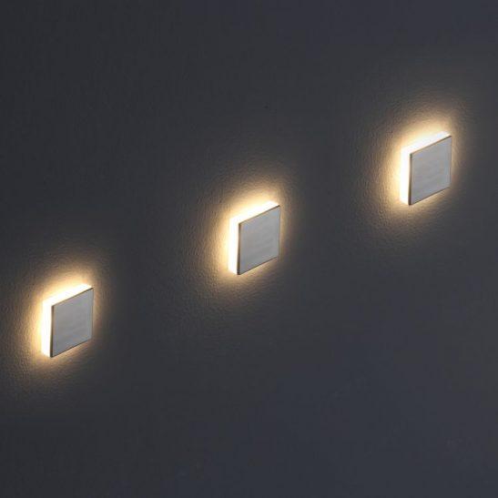 LSL008A Square 1 Watt Recessed LED Wall Light