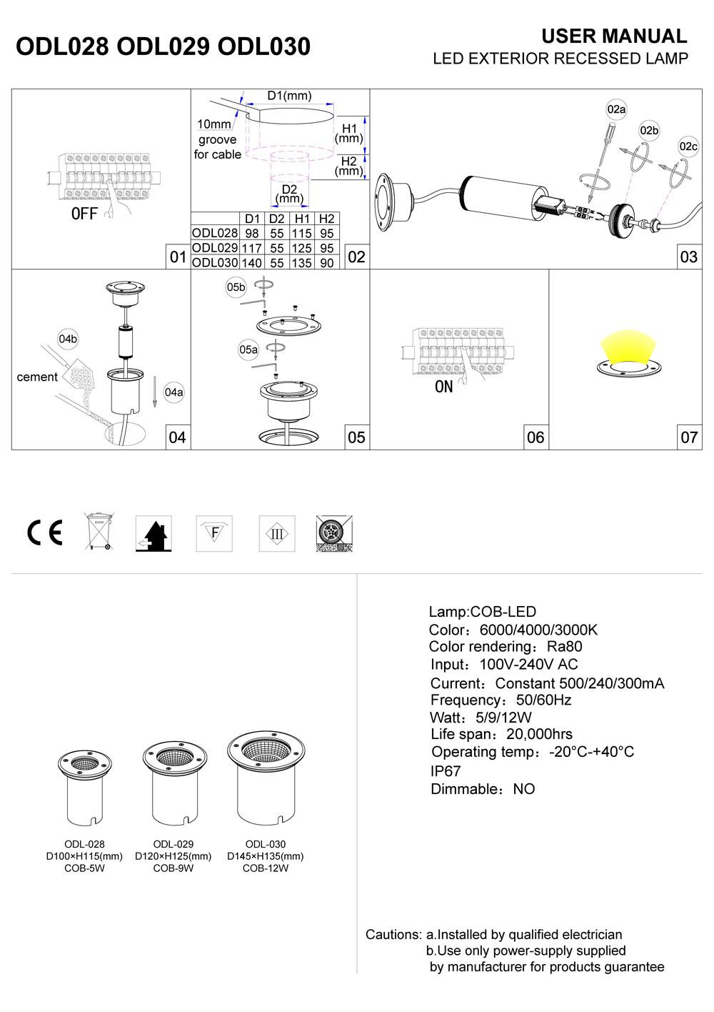 LED ground light