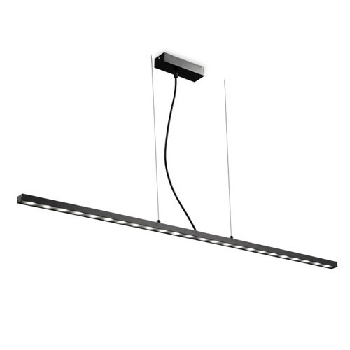 lpl142 24 watt black led pendant ceiling light