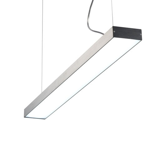 LPL160-SL 40 watt silver linear pendant light