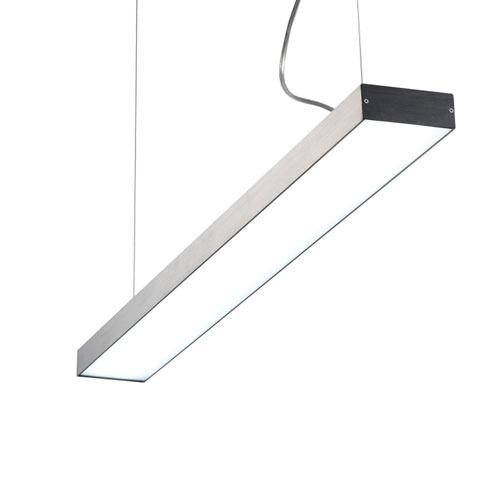 LPL160-SL 40 watt silver linear pendant light