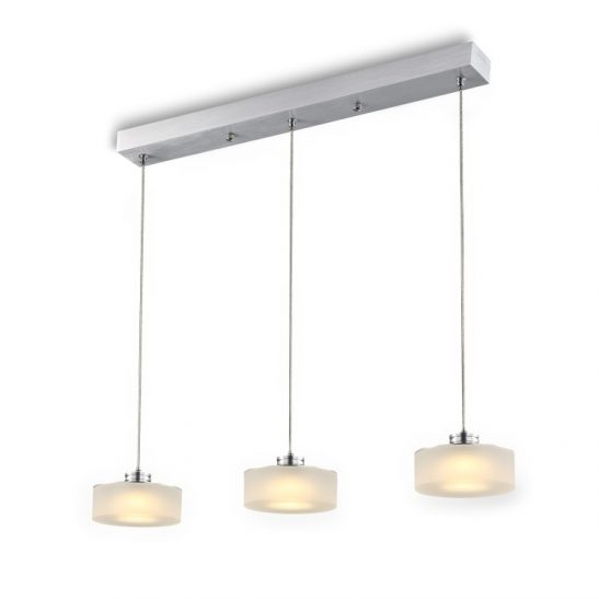 LPL177 15 Watt Silver three light pendant fitting
