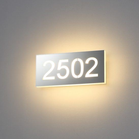 9 watt LED hotel room numbers