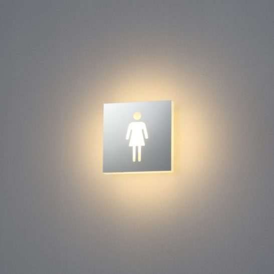 4 watt illuminated female LED washroom sign