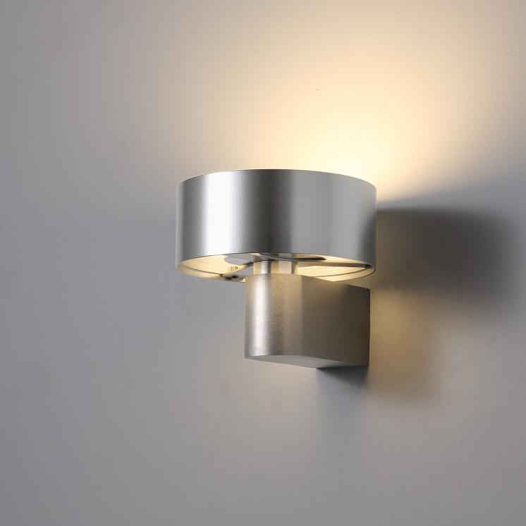 Led Wall Lights Indoor Uk: LWA297 6 Watt Brushed Silver Wall Light Fitting