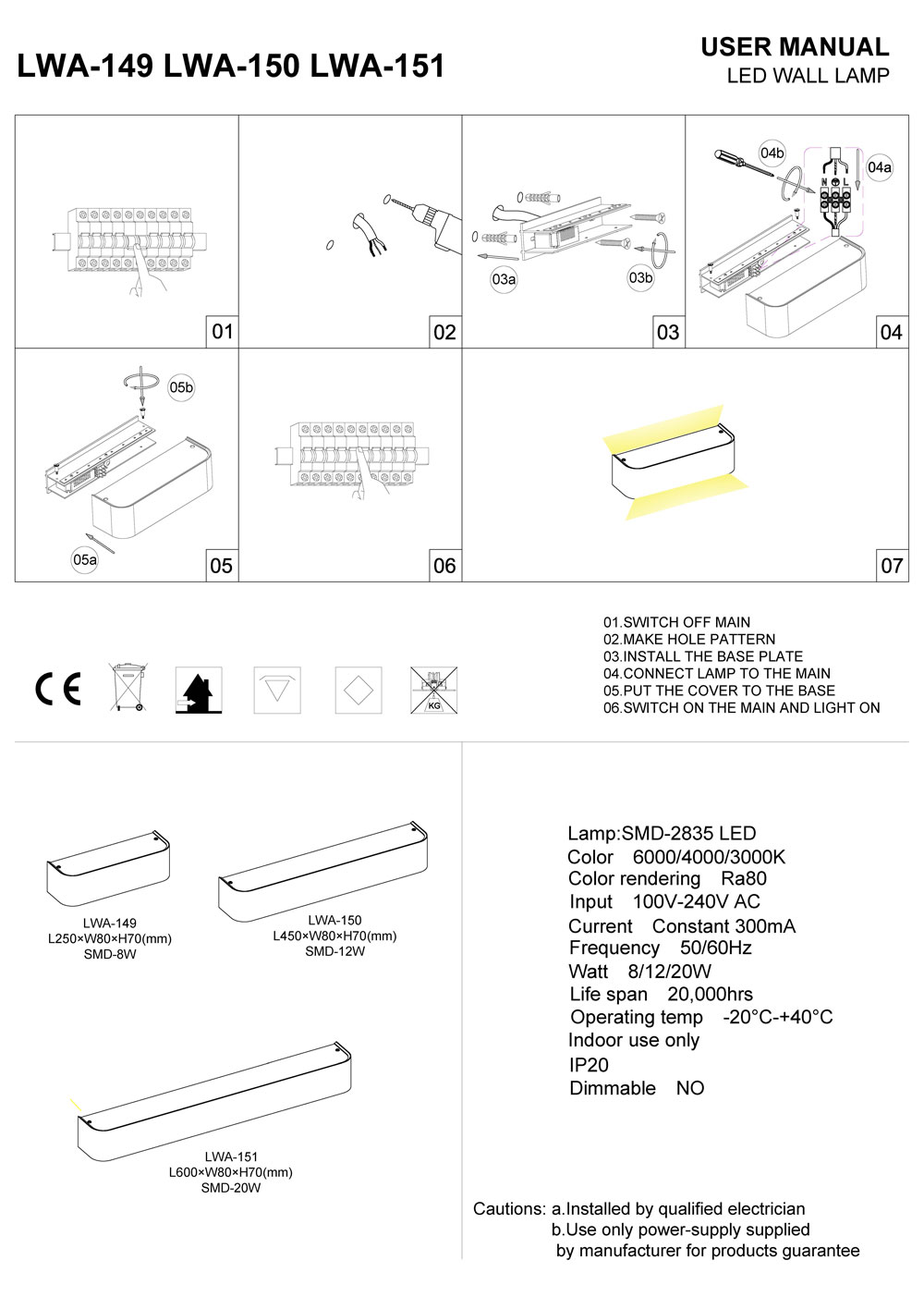 wall washer LED wall light installation guide