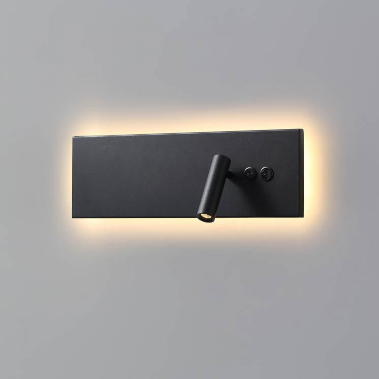 Lwa334a Black Wall Mounted Recessed Led Reading Light Fitting