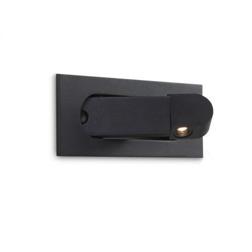 LWA323-BK 3 watt black recessed wall mounted LED reading light