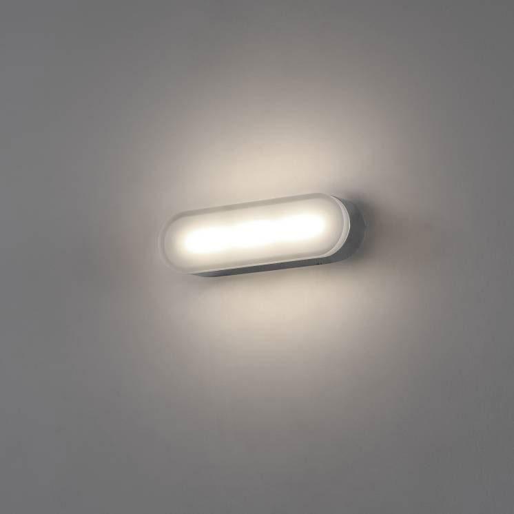 LWA343 2 watt polished chrome bathroom wall light
