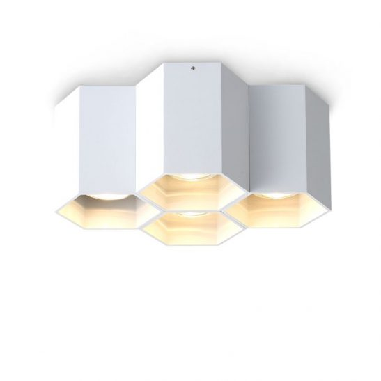 LBL254-WT 20 watt white surface mounted hexagonal LED downlight