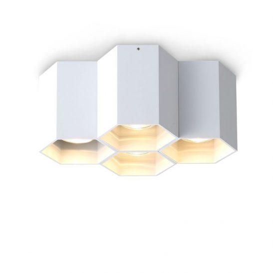 LBL254-WT 20 watt white surface mounted hexagonal LED downlight