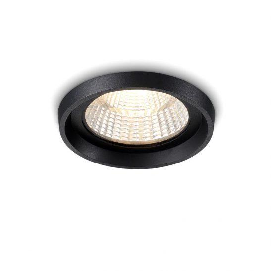 LDC412 12 Watt round black IP65 LED downlight fitting