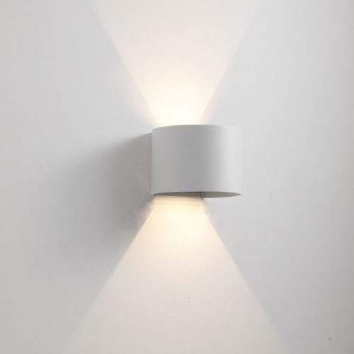 LWA288A-WT round 6 watt LED outside wall light