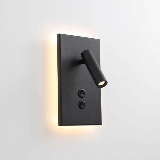 LWA334S-BK wall mounted bedside LED reading light