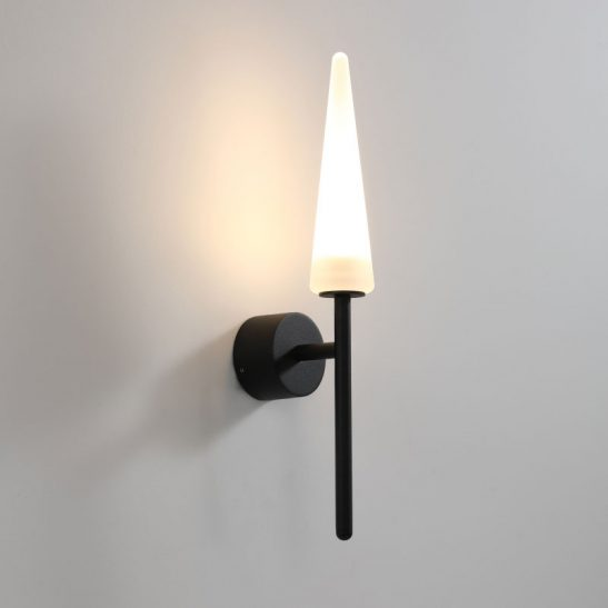 LWA366 modern black outdoor wall light fitting
