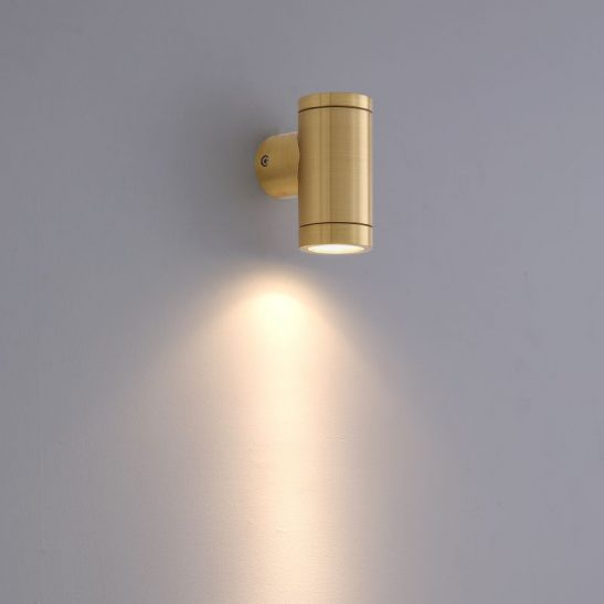 LWA369 3 Watt Brass Finish Outdoor LED wall light