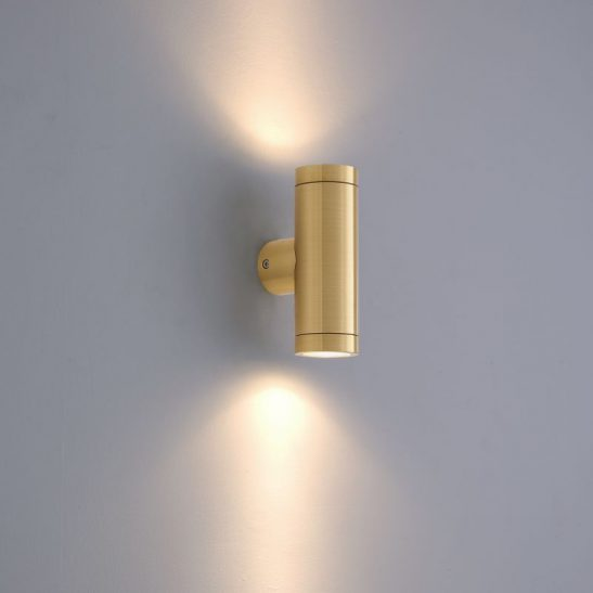 LWA370 6 watt brass up and down outside wall light
