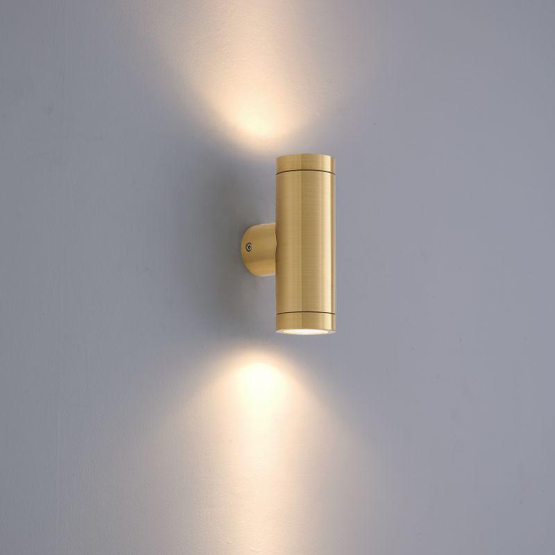 LWA370 6 watt brass up and down outside wall light