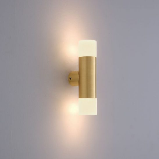LWA372 6 watt brass up and down outdoor wall light