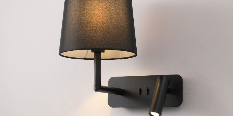 LWA375-BK black finish modern wall mounted LED reading light fitting