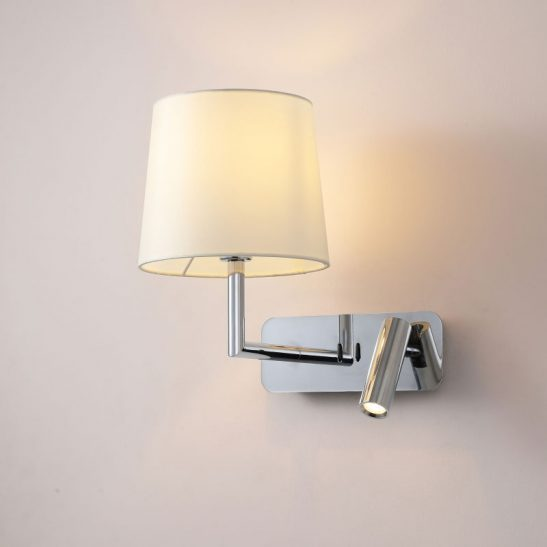 LWA375-CR twin polsihed chrome bedside reading light