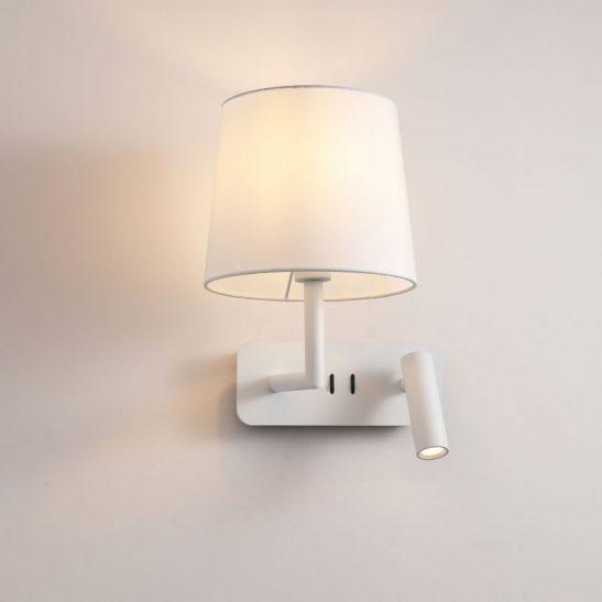 LWA375-WT twin white bedside LED reading light
