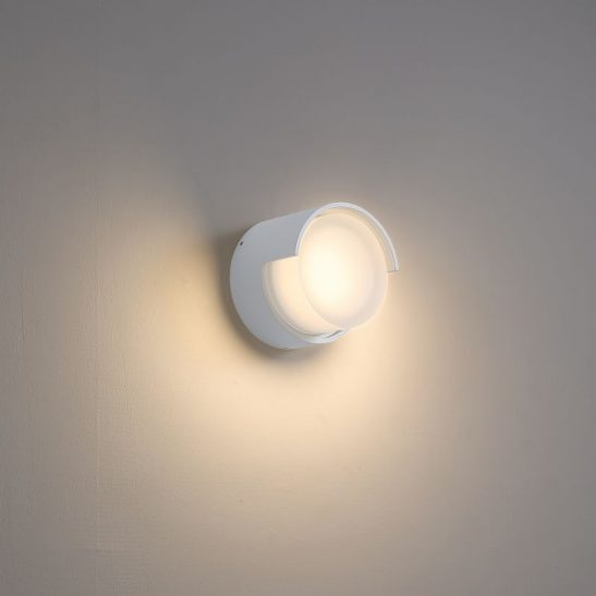 LWA382-WT 4 watt round exterior LED wall light
