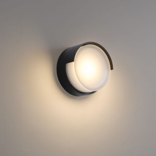 LWA383-BK 6 Watt modern outdoor LED wall light