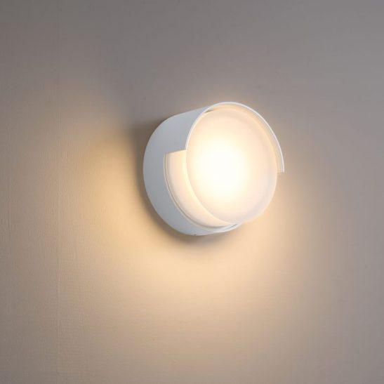 LWA383-WT 6 watt round white exterior LED wall light