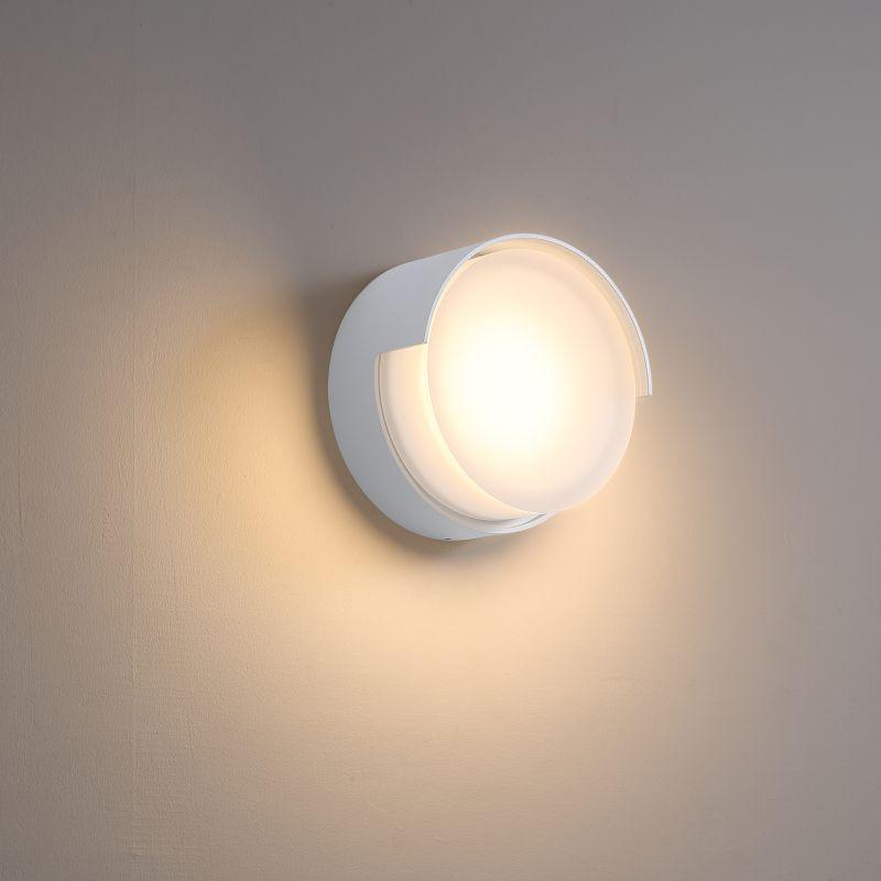 LWA383-WT 6 watt round white exterior LED wall light