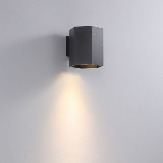 LWA387-BK 5 watt black finish interior LED wall light