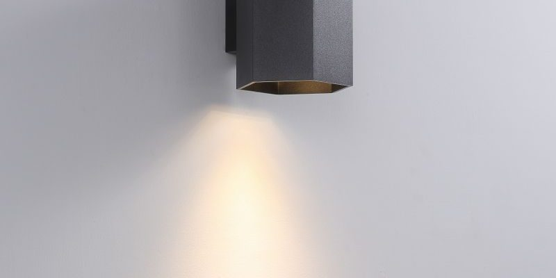 LWA387-BK 5 watt black finish interior LED wall light