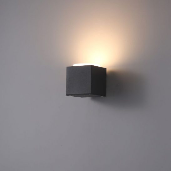 LWA396 10 watt LED black exterior wall light fitting
