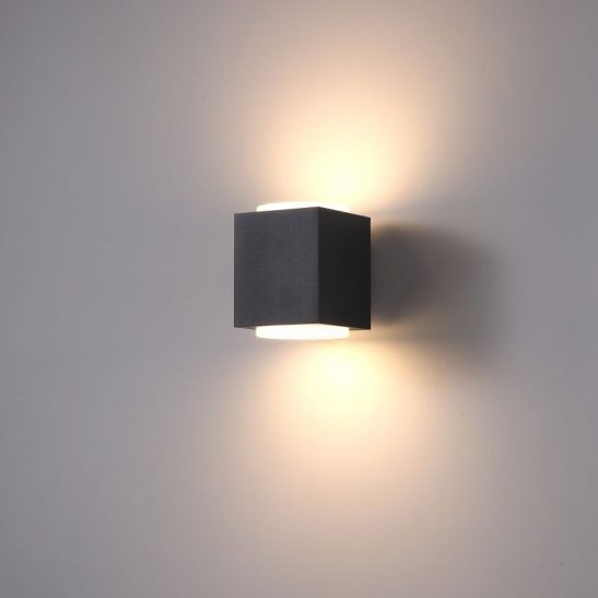 LWA397 20 watt black up and down outdoor wall light