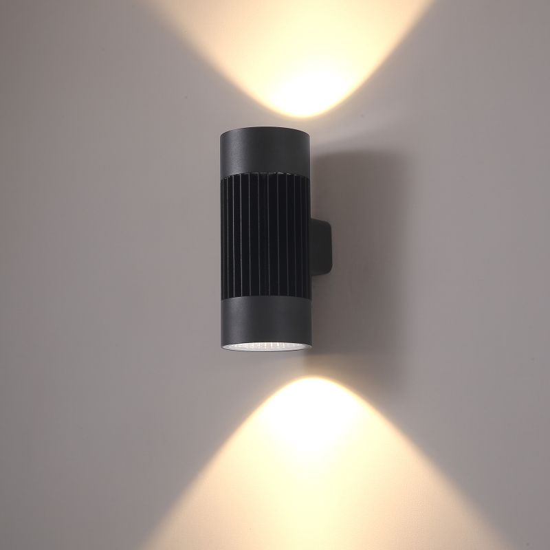 LWA399 40 watt large black outdoor commercial LED wall light