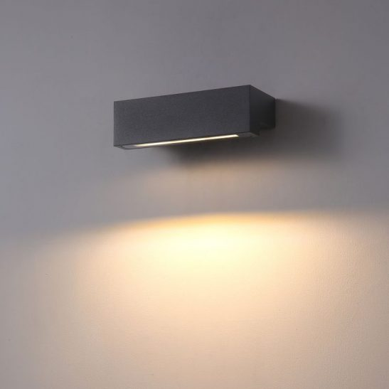 LWA414 9 watt black outdoor LED wall washer light