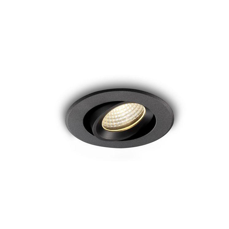 LDC335 Onyx 5 watt black IP65 recessed LED downlight