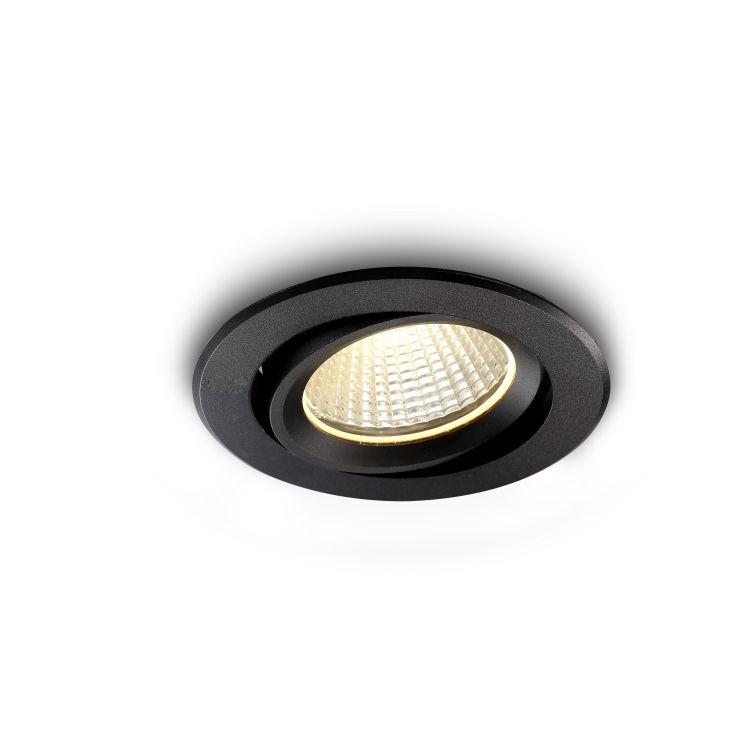 LDC336 Onyx 9 watt recessed black LED downlight IP65 rated