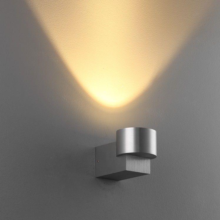 LWA134 5 Watt Brushed Aluminium Wall wash Interior LED Wall Uplight