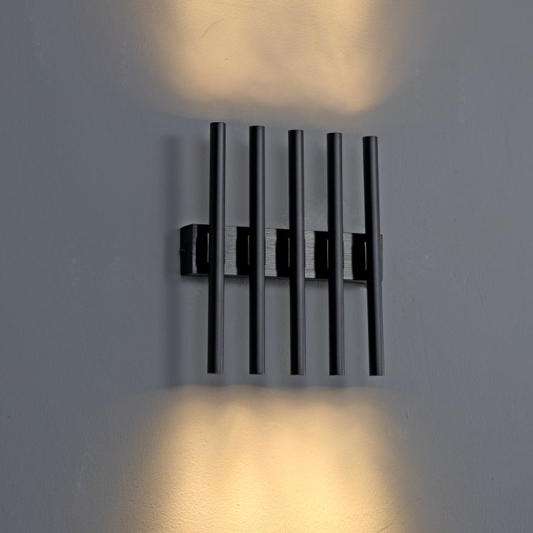 LWA240 Black 10 watt decorative interior wall light