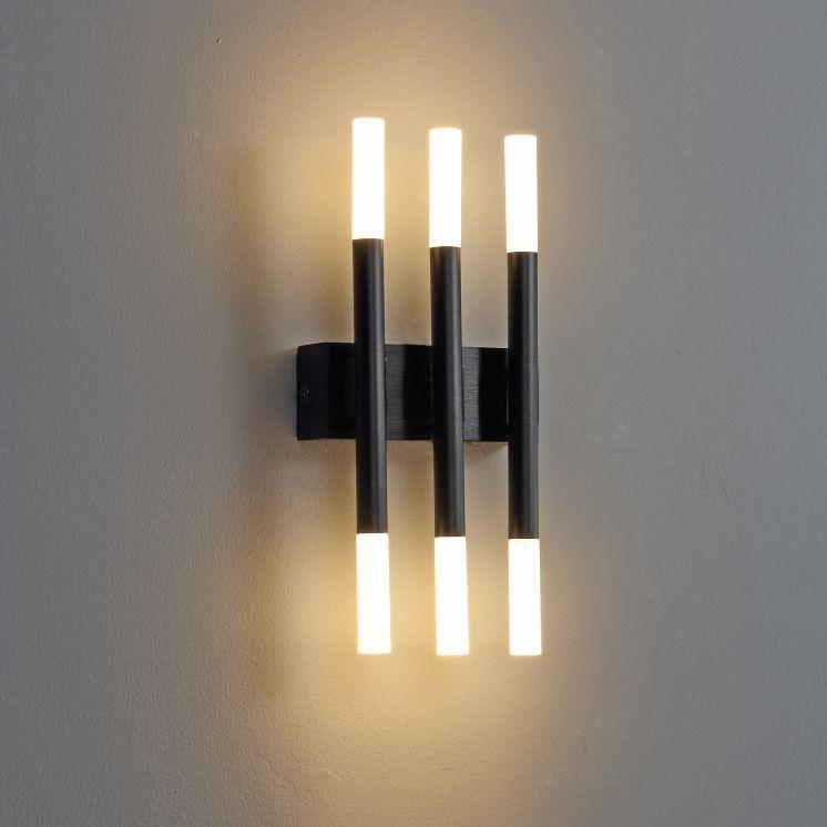 LWA241 6 watt black modern interior wall light fitting