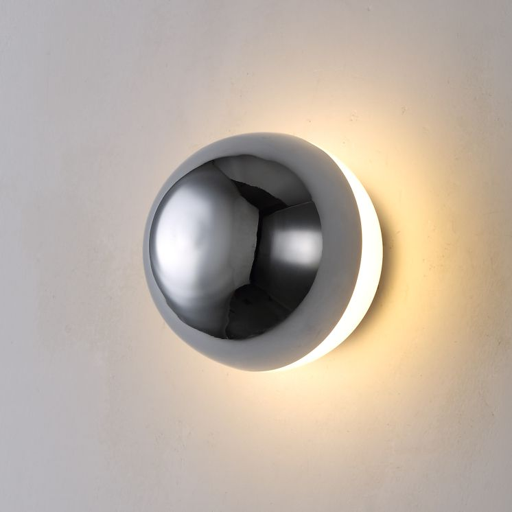 LWA284 6 watt chrome dome shaped decorative interior LED wall light