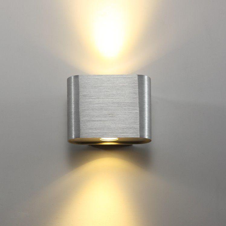 Beam Single 2 Watt Brushed Aluminium Interior LED Wall Light
