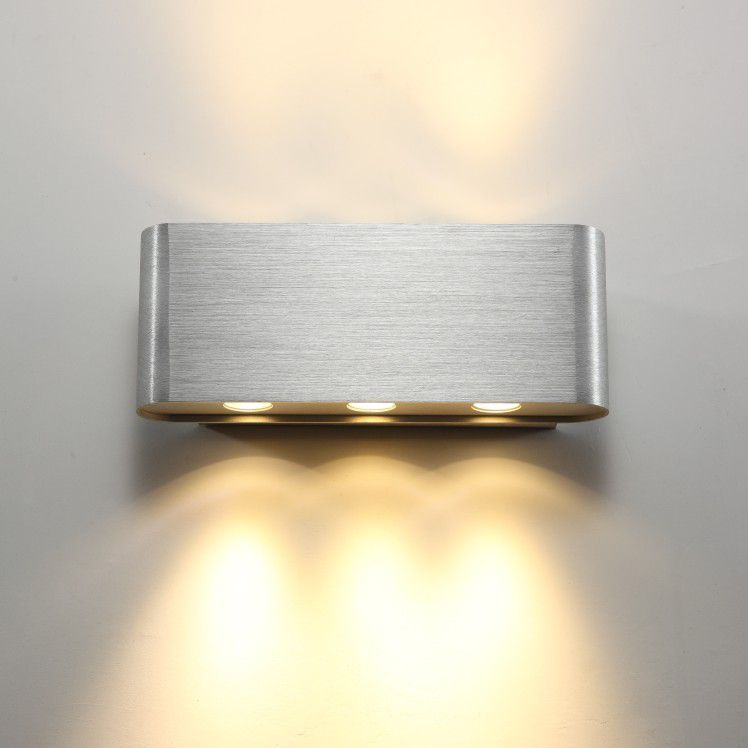 lwa105 6 watt brushed aluminium up and down interior LED wall light