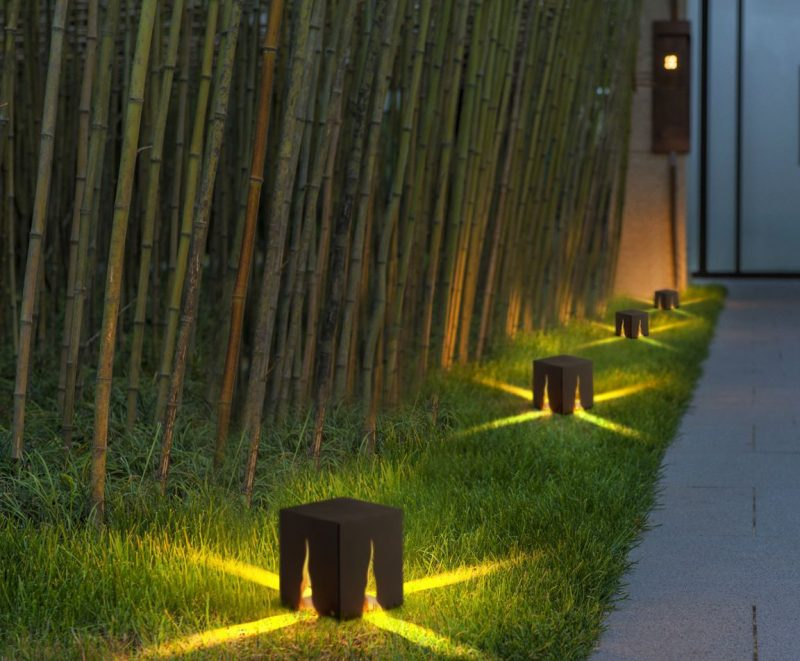 LFL050 4 watt outdoor path light installed