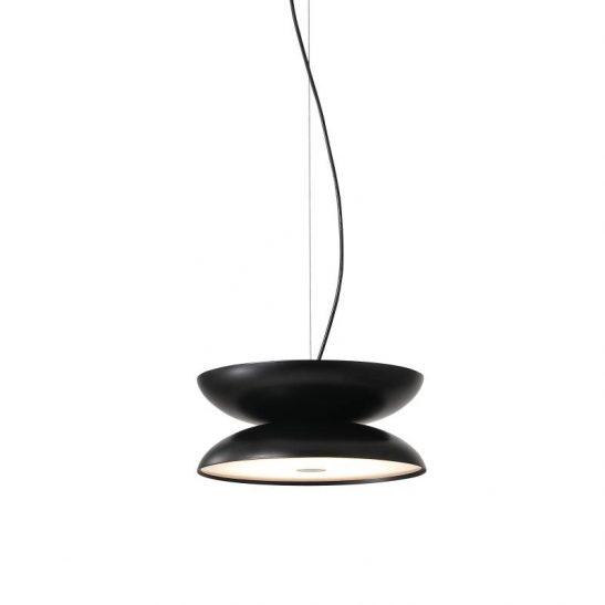 LPL335-BK 20 watt round black LED pendant light